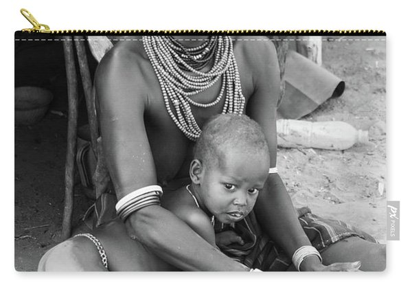 Dassanech Mother And Child Carry-all Pouch