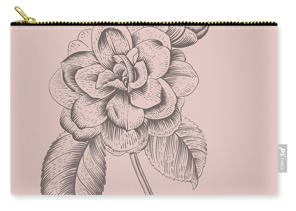 Blush Pink Tropical Leaf Carry-all Pouch