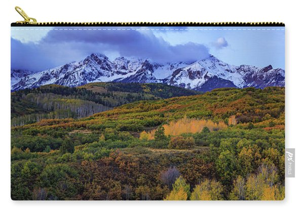 Dawn At The Dallas Divide Panoramic Carry-all Pouch