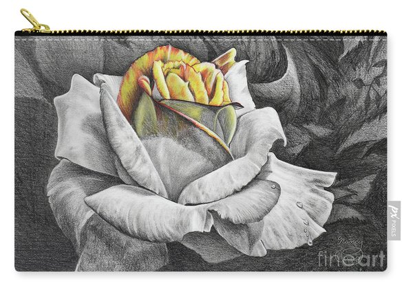 Carry-all Pouch featuring the drawing Dawn by Nancy Cupp