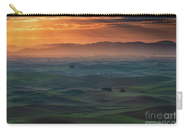 Dawn Rays Over The Palouse Carry-all Pouch