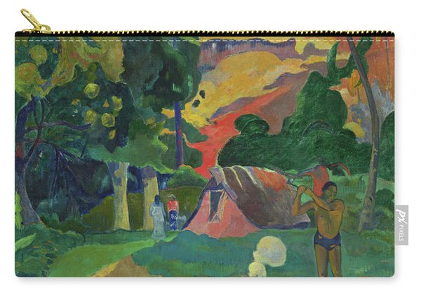 Death, Landscape With Peacocks, 1892 Carry-all Pouch