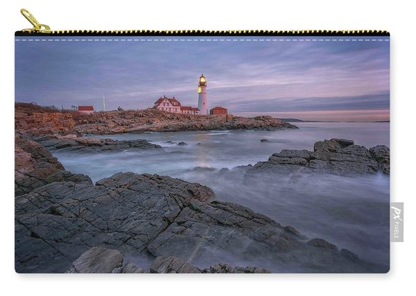 December Dawn At Portland Head Light Carry-all Pouch