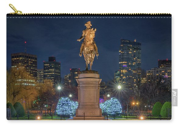 December Evening In Boston's Public Garden Carry-all Pouch