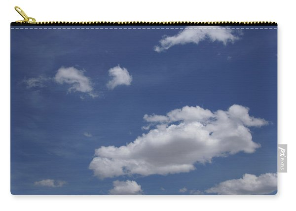 Deep Blue Sky And Fluffy Cumulous Cloud Carry-all Pouch