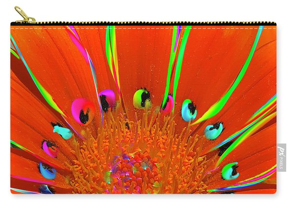 Deep Coral Bloom  Carry-all Pouch