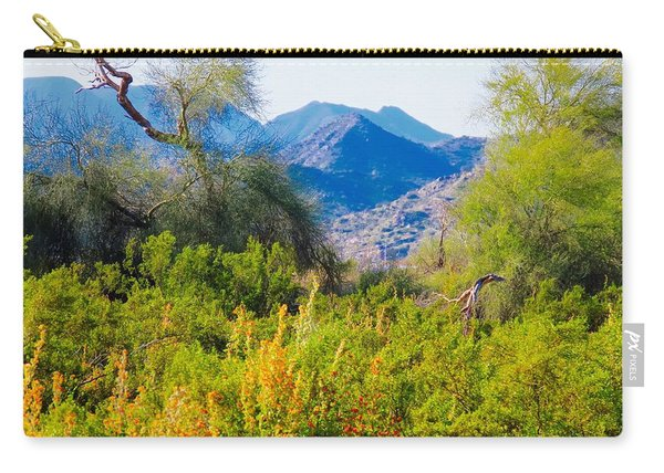 Deep Desert Valley In A Sonoran Desert Spring Carry-all Pouch