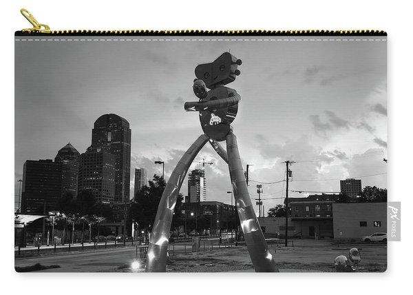 Deep Ellum Traveling Man Monochrome 061919 Carry-all Pouch