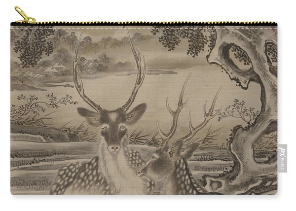 Deer And Monkeys Carry-all Pouch