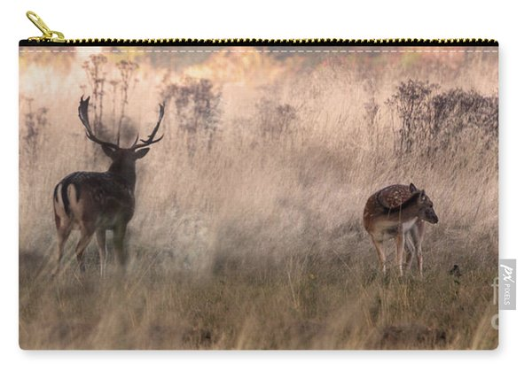 Deer In The Grasses Carry-all Pouch