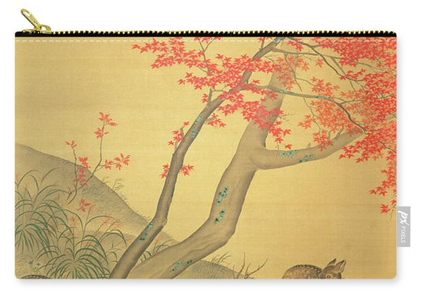 Deer Under A Maple Tree Carry-all Pouch