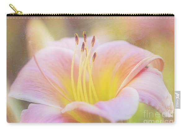 Delicate Pink Daylily Carry-all Pouch