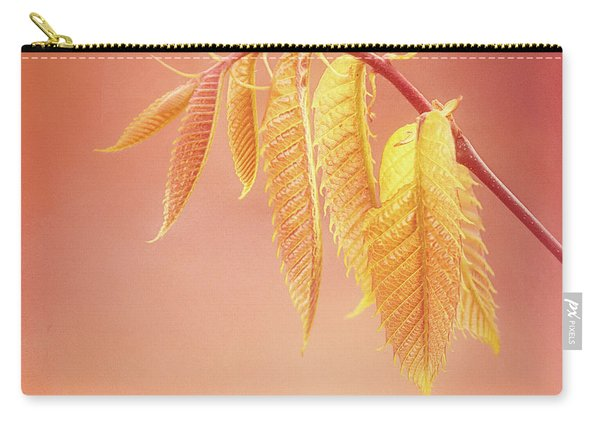 Delightful Baby Chestnut Leaves Carry-all Pouch
