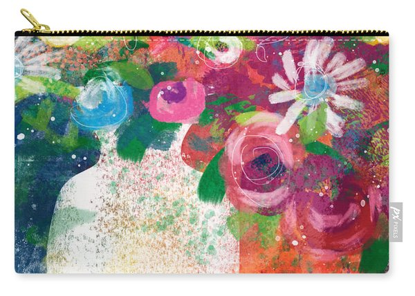 Delightful Bouquet 2- Art By Linda Woods Carry-all Pouch