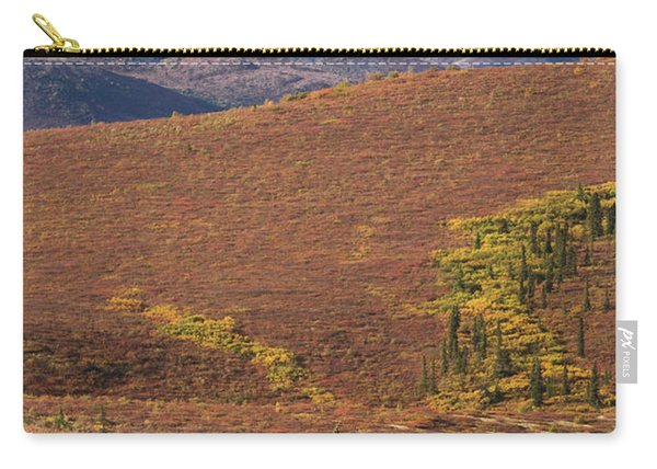 Carry-all Pouch featuring the photograph Denali Grizzly by Tim Newton