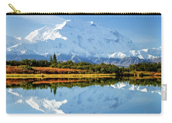 Carry-all Pouch featuring the photograph Denali Reflection by Tim Newton