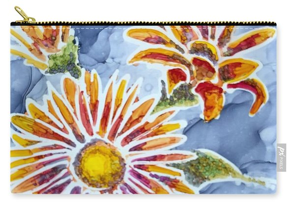 Denim Asters Carry-all Pouch