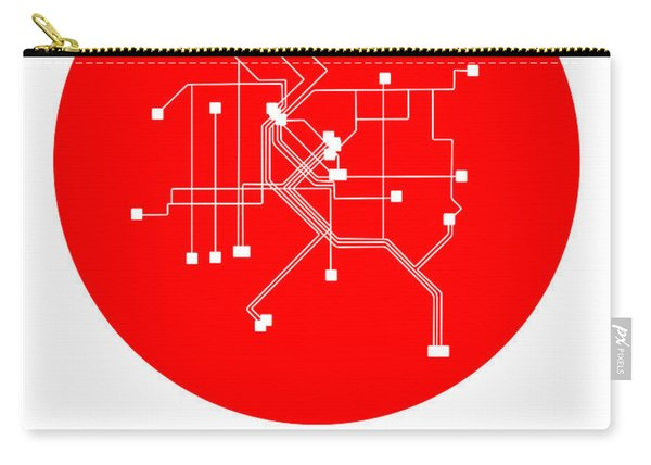 Denver Red Subway Map Carry-all Pouch