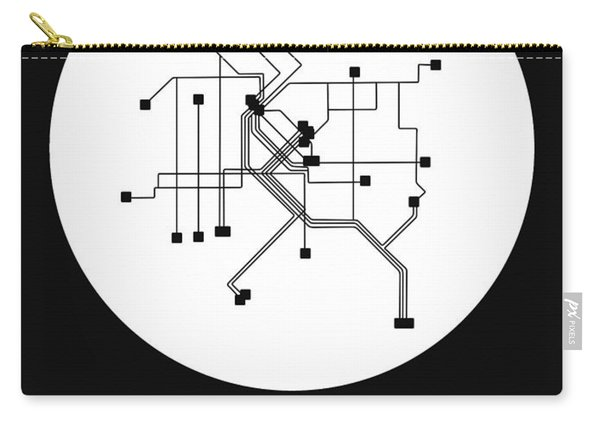 Denver White Subway Map Carry-all Pouch
