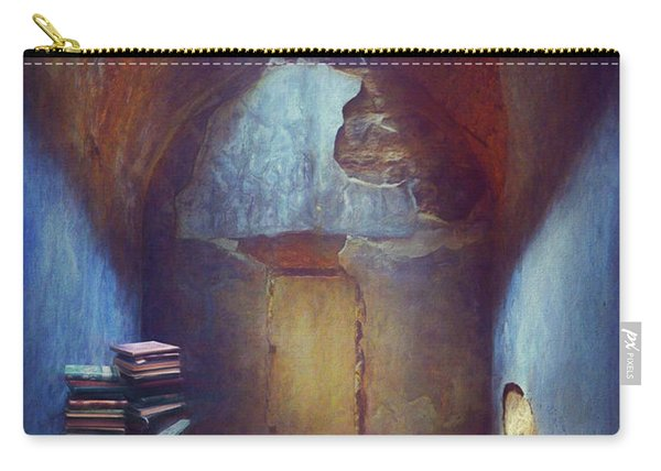 Derelict Room With Books Carry-all Pouch