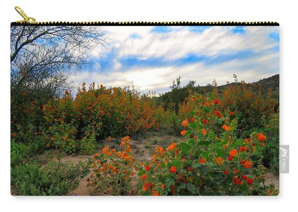 Desert Wildflowers In The Valley Carry-all Pouch
