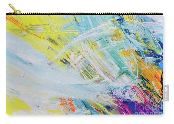 Detail Of Brush Strokes Of Random Colors To Use As Background An Carry-all Pouch