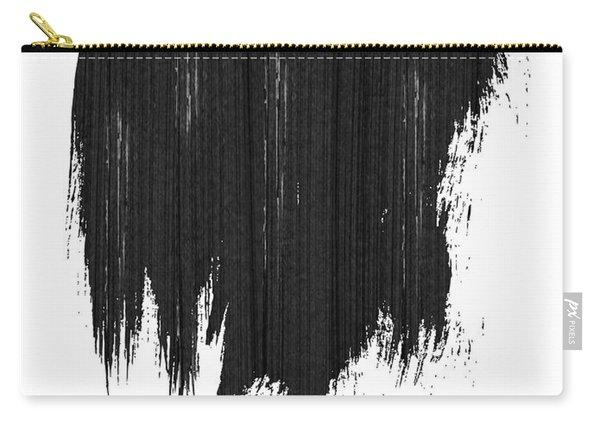 Detroit Skyline Brush Stroke Black Carry-all Pouch