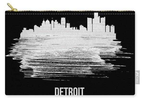 Detroit Skyline Brush Stroke White Carry-all Pouch