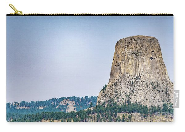 Carry-all Pouch featuring the photograph Devils Tower by Dheeraj Mutha