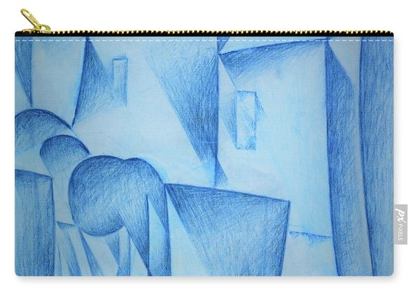 Digital Remastered Edition - Houses In Paris, Place Ravignan - Original Blue Carry-all Pouch