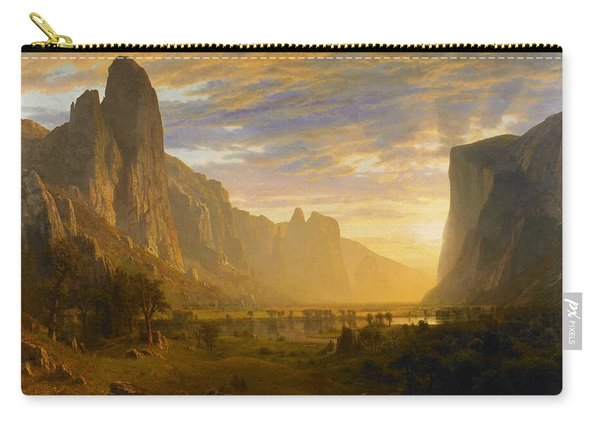 Digital Remastered Edition - Looking Down Yosemite Valley Carry-all Pouch