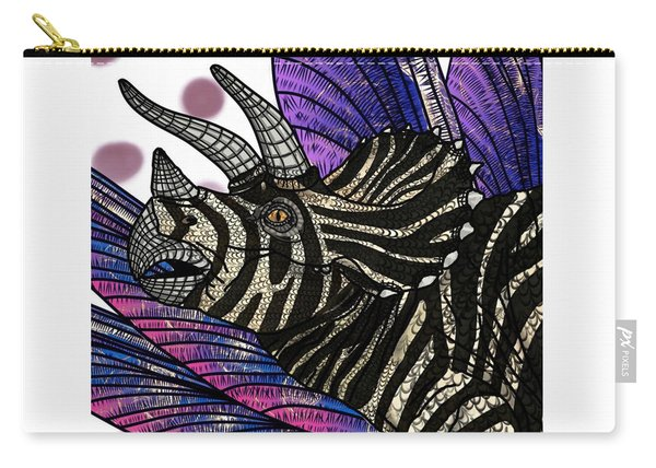 Dinosaur Triceratops Head Carry-all Pouch