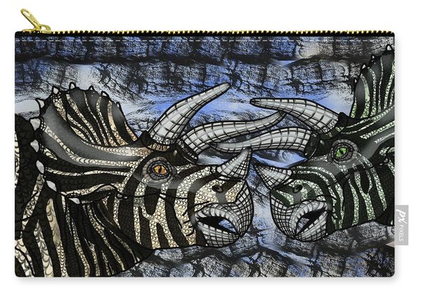 Dinosaur Triceratops Head On Battle Carry-all Pouch