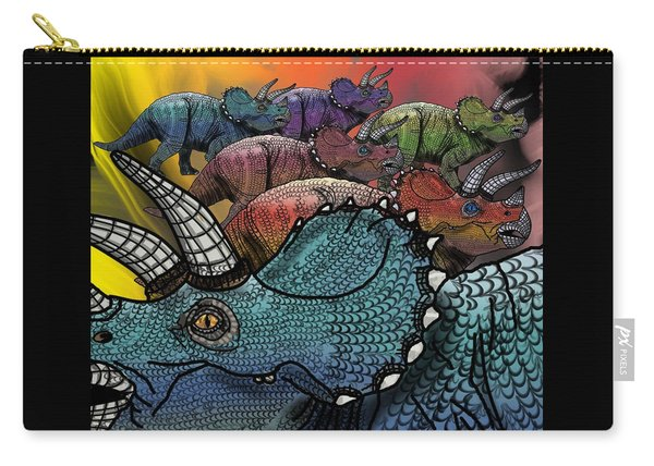 Dinosaur Triceratops Herd Carry-all Pouch