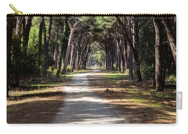 Dirt Pathway In A Mediterranean Pine Forest Carry-all Pouch