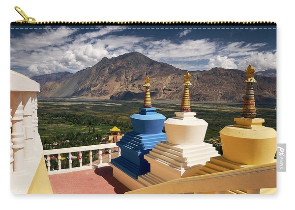 Carry-all Pouch featuring the photograph Diskit Gompa by Whitney Goodey