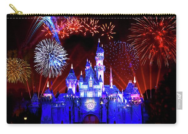 Disneyland 60th Anniversary Fireworks Carry-all Pouch