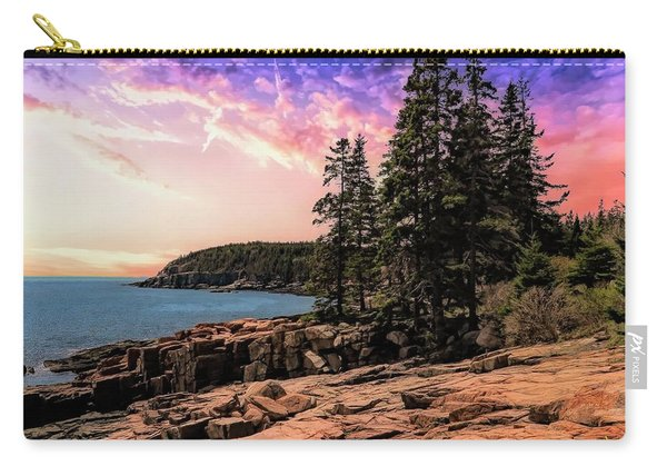 Distant View Of Otter Cliffs,acadia National Park,maine. Carry-all Pouch