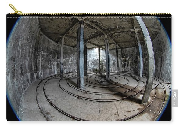 Carry-all Pouch featuring the photograph Djupavik Cannery Herring Oil Tank by Tom Singleton