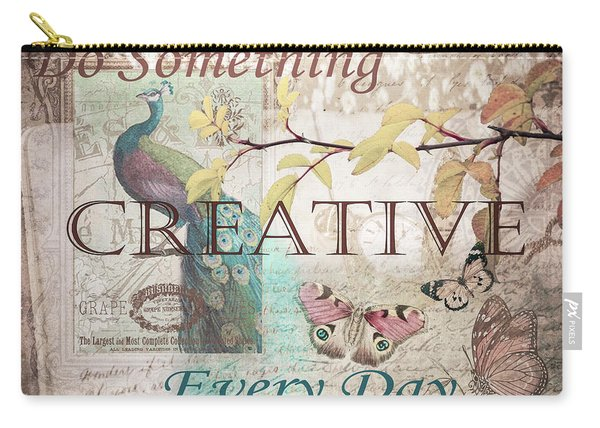 Do Something Creative Every Day Vintage Art Carry-all Pouch