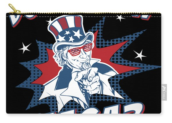 Carry-all Pouch featuring the digital art Do You Even Maga by Flippin Sweet Gear