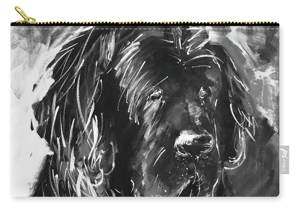 Dog Black And White  Carry-all Pouch