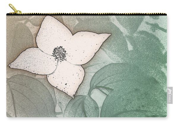 Dogwood Flower Stencil On Sandstone Carry-all Pouch