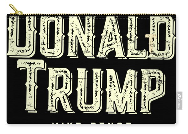 Carry-all Pouch featuring the digital art Donald Trump Mike Pence 2016 Vintage by Flippin Sweet Gear