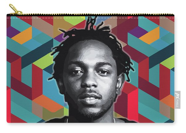 Carry-all Pouch featuring the painting Don't Kill My Vibe Kendrick by Carla B