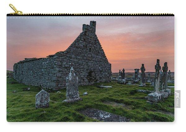 Doolin Ireland Graveyard At Sunrise Carry-all Pouch