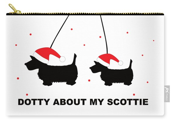 Dotty About My Scottie - Xmas Carry-all Pouch