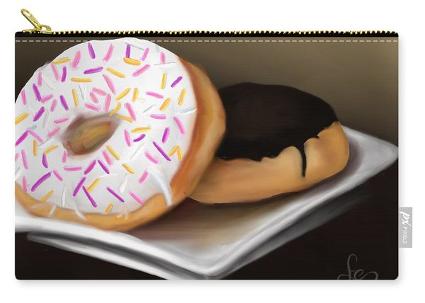 Carry-all Pouch featuring the painting Doughnut Life by Fe Jones