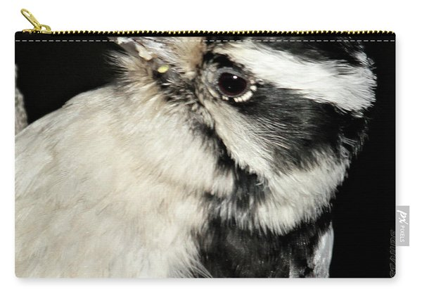 Downy Woodpecker Female Carry-all Pouch