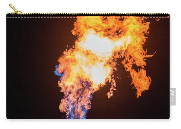 Carry-all Pouch featuring the photograph Dragon Breath by Dheeraj Mutha